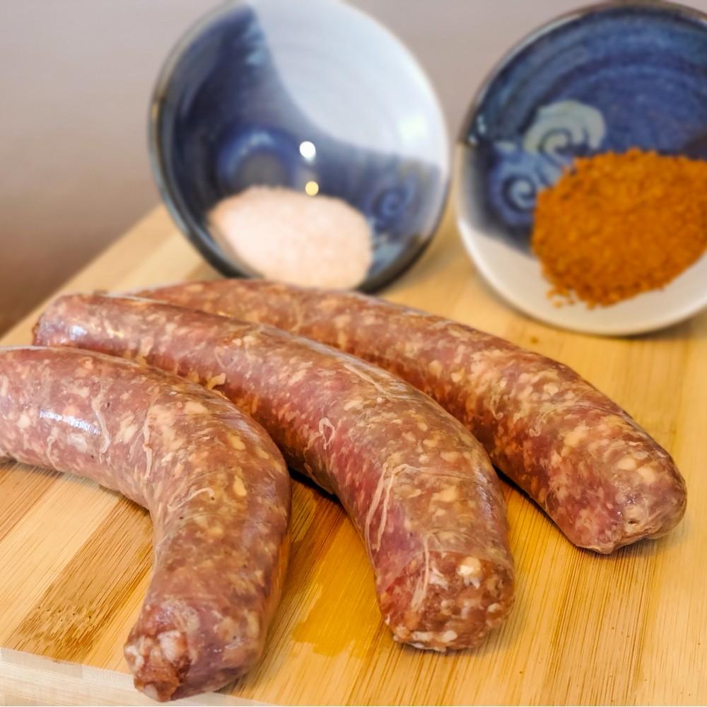 Bison Hot Italian Sausage 3/pkg - Frozen (price per pound, package prices depend on weight)