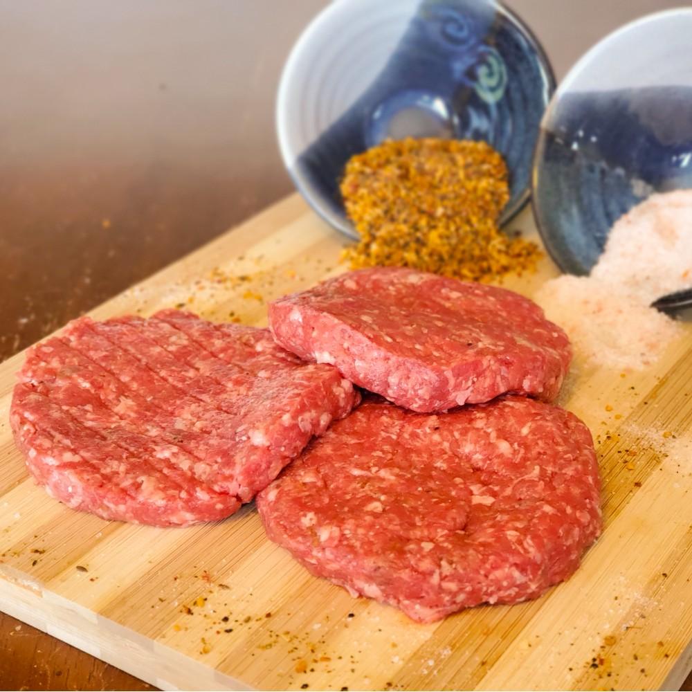 4oz Bison Burger Patties - 4/pkg - Frozen (price per pound, package prices depend on weight)