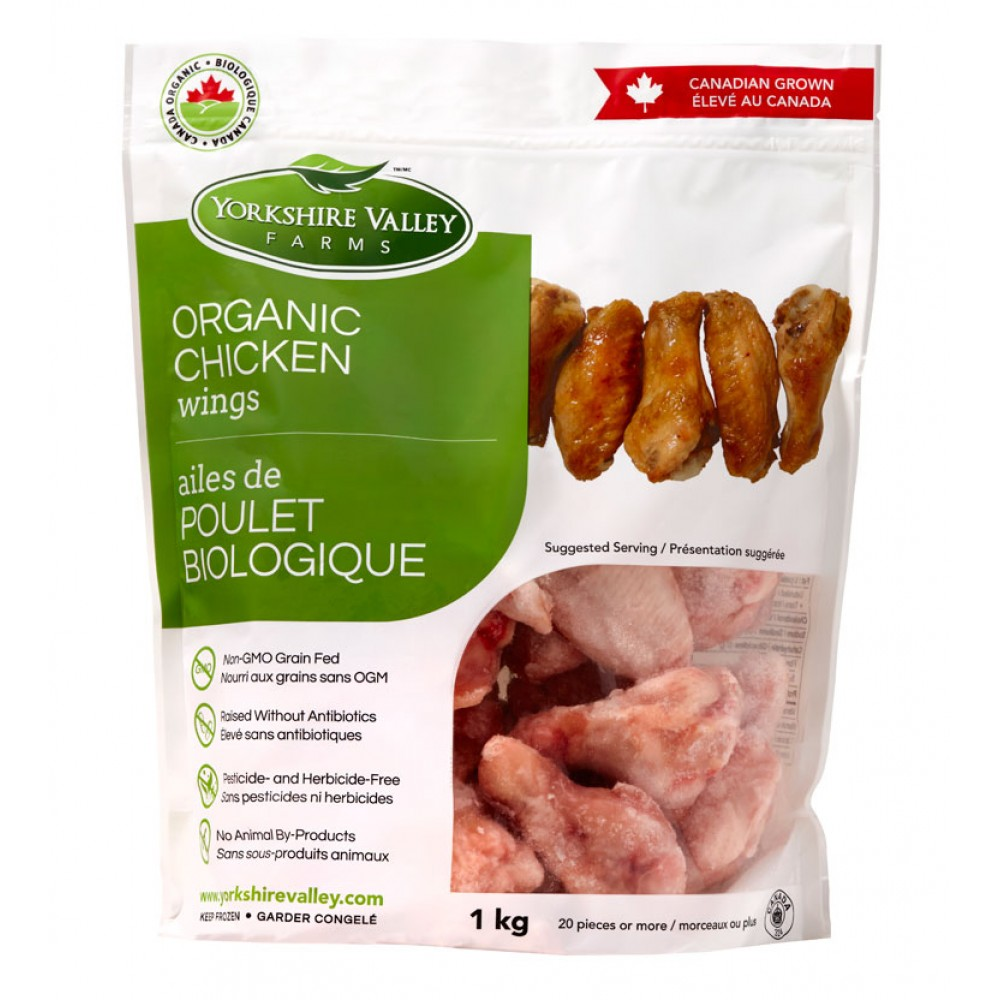Yorkshire Valley Farms Organic Chicken Wings (1 kg bag)