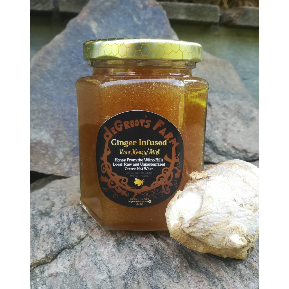 Ginger Infused Raw Wildflower Honey